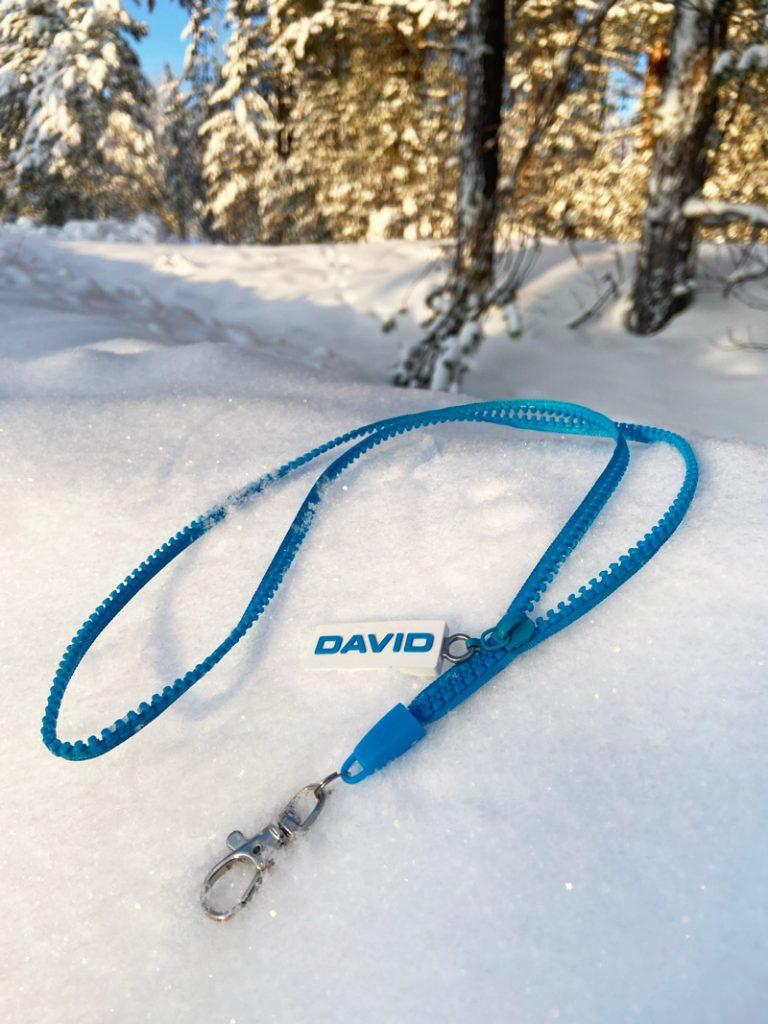 Zipper Lanyard mit David-Logo