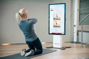 exercise screen for physiotherapy treatment and stretches